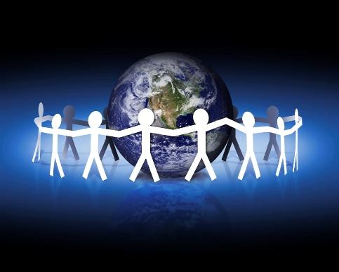 satues surrounding earth