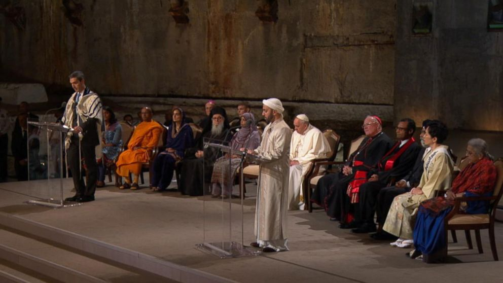 Pope and Interfaith Service in NY
